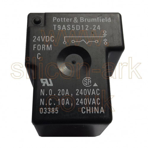 24 Volt SPDT Relay  (T9AS5D12-24) - Potter & Brumfield
