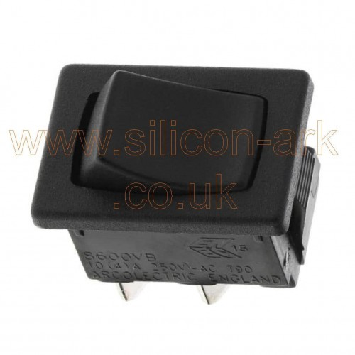 Arcoelectric  (H8600VBAAS)  SPST black rocker on-off  switch