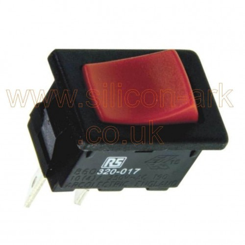 Arcoelectric  (H8600VBAAT)  SPST red rocker on-off  switch